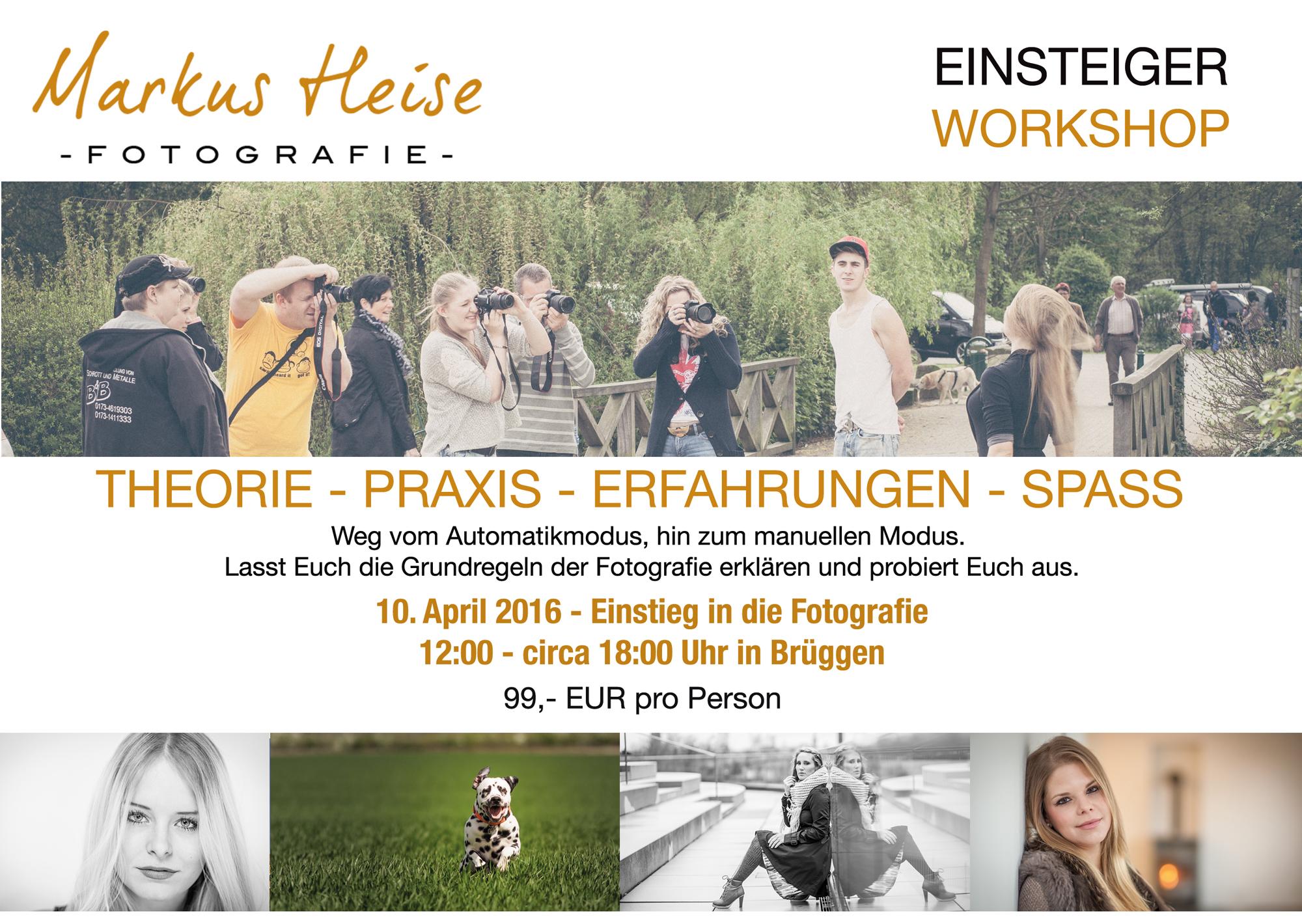 Fotokurs: Einstieg in die Forografie am 10.04.2016 in Brüggen ...